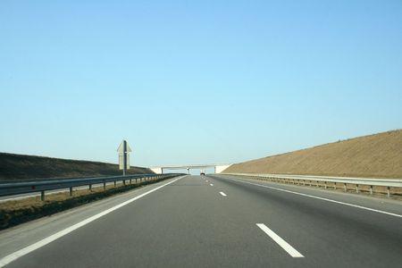 open highway Stock Photo