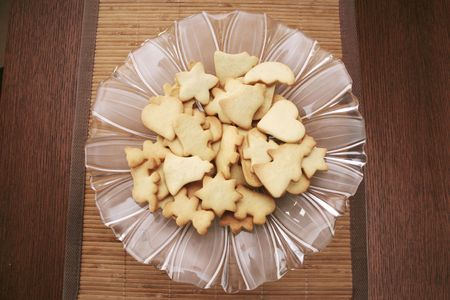 Cookies on a glass plate photo
