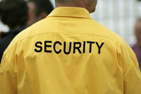 guardaespaldas: Guardia de seguridad  Foto de archivo