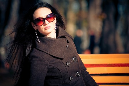 fashion model in sunglasses Stock Photo - 3988879