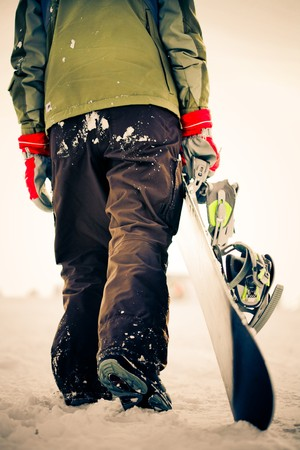 Snowboarder. cross-processing effect