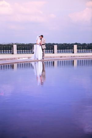 couple on their wedding day photo