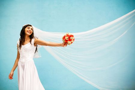 bride with a wedding bouquet Stock Photo - 4812932
