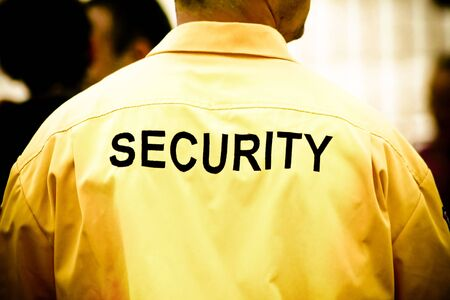security officer: Security guard Stock Photo