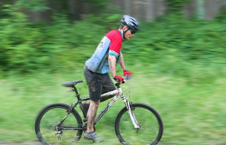 mountain bike racer Фото со стока