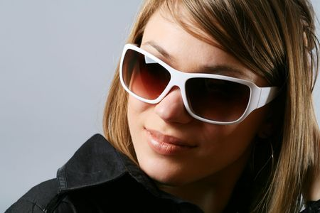 Woman in sunglasses. Stock Photo