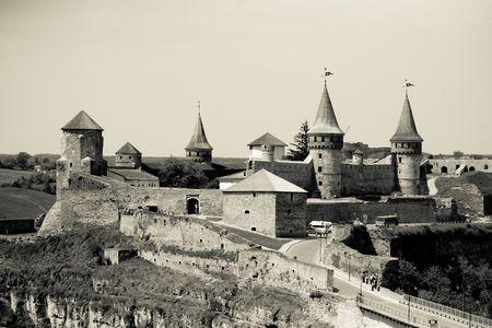 build in: Kamenets-Podolsky Castle, build in the 12-13th centuries Stock Photo