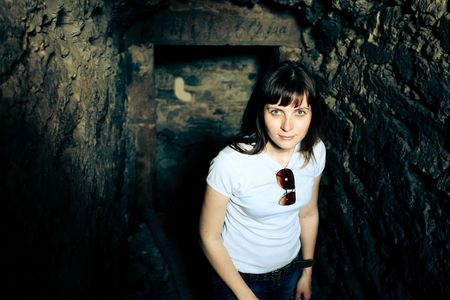 woman in a cave photo