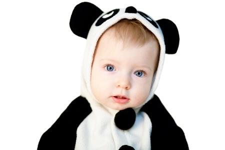 Baby in panda costume Stock Photo - 8411067