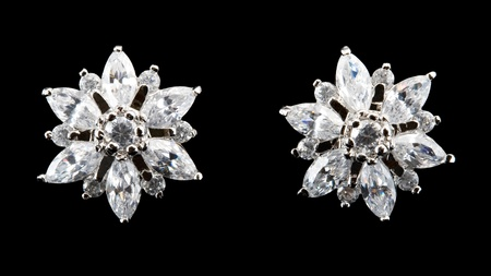 earring with diamond photo