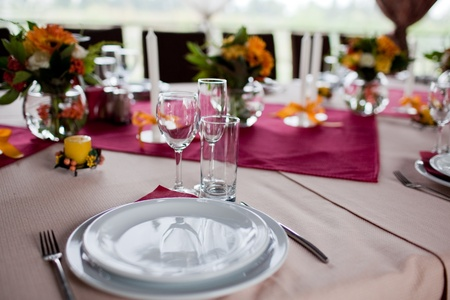tables set for wedding photo