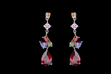 colored earrings photo