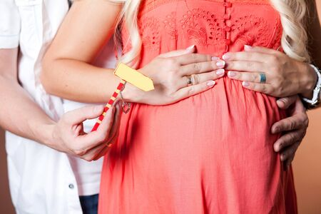 Close image of pregnant woman Stock Photo - 14554161