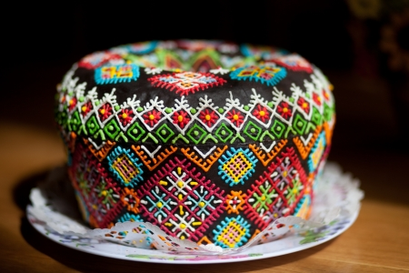 easter cookie: Easter cake kulich or panettone
