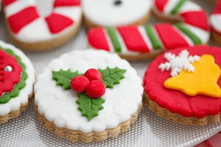 biscotti di natale: Fatti in casa biscotti di pan di zenzero di natale - Archivio Fotografico