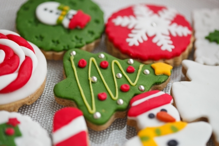 Homemade christmas cookies - gingerbread