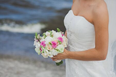 ramo flores: wedding bouquet flowers with colored flowers