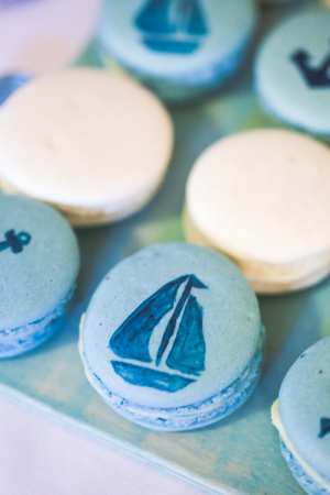 macarons: Homemade macarons cookies in marina style