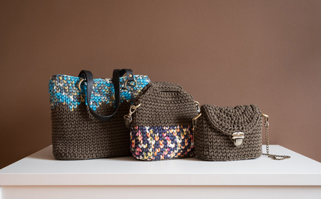 Fashion textile female handbags Фото со стока - 85956598