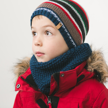cute kid in winter time