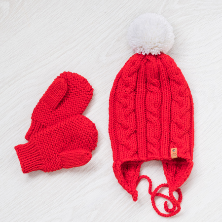 cozy knitted winter set