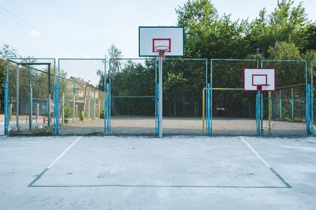 Street ball. Outdoor basketball.