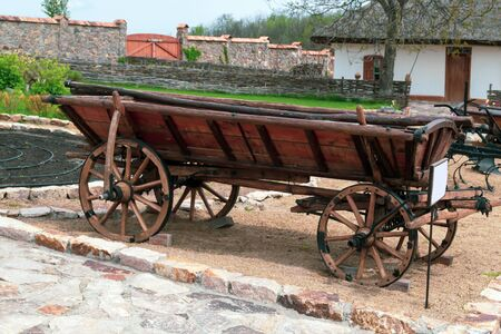 Old horse-drawn cart that is no longer used