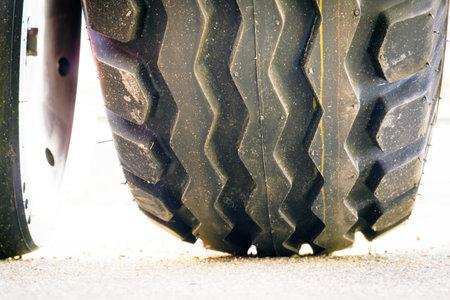 A close-up of a precision planter wheel. Stockfoto