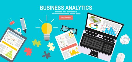 analytic: Business analytic graph report. business investment planning.financial research, data analysis, marketing research, consultant, analytics