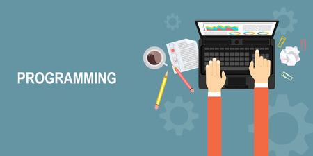 web development: Programming and coding, website development, web design.