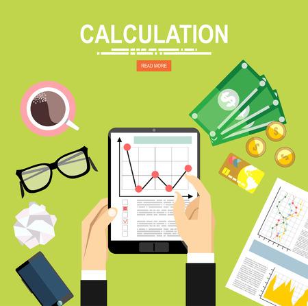 web services: Calculation concept. Illustration