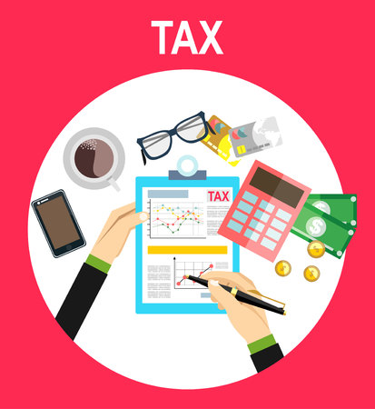 calculating: pay tax taxes money icon income taxation currency calculating