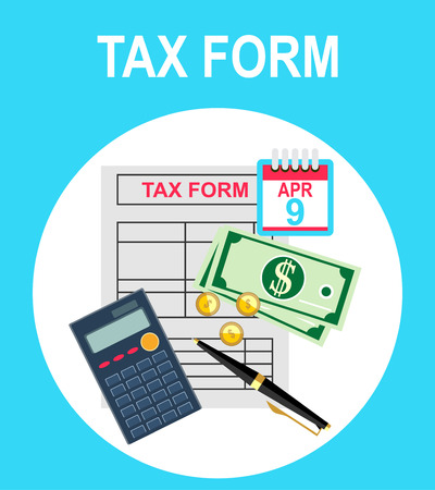 pay tax taxes money icon income taxation currency calculating