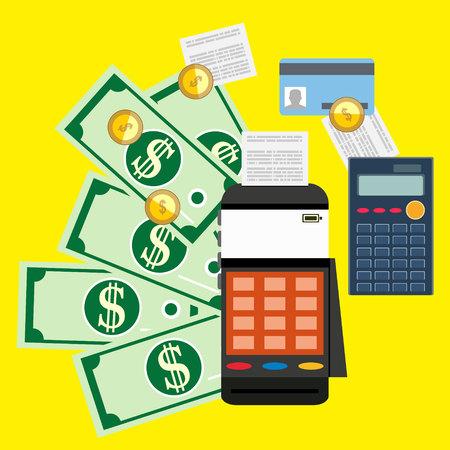 Calculation concept. Businessman, accountant. Flat design, Vector Illustration. Financial calculations