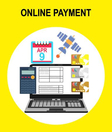 pay bills: pay bills tax online receipt via computer or laptop