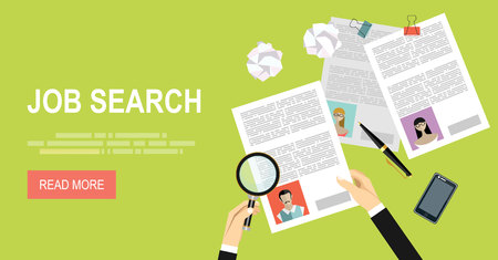 article marketing: Concept of job searching.