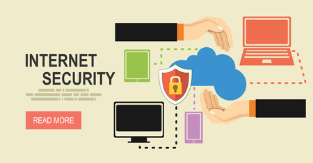 cloud technology: Security and Cloud Technology Concept.