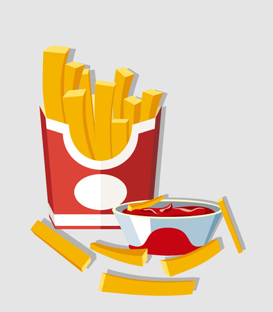 Vector illustration of French fries