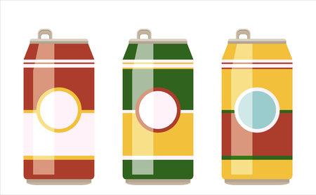 Vector illustration of various soda cans. Illustration
