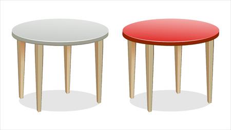 Vector Empty Round Tables