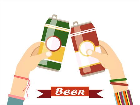bavarian culture: Beer Festival Vector Illustration.