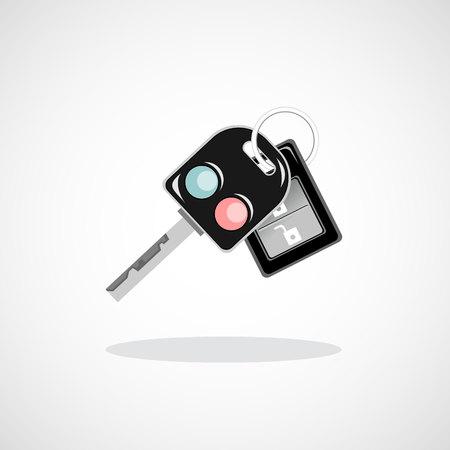 Car key with remote Illustration
