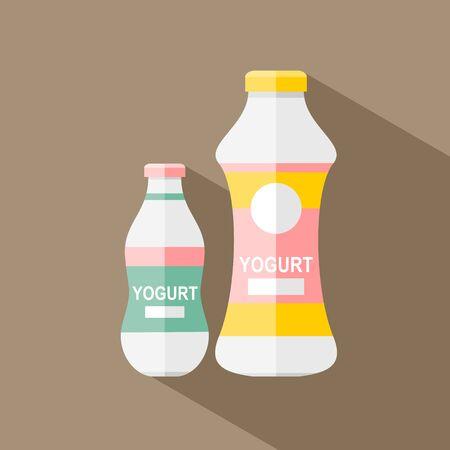 Yogurt icon in flat style Illustration