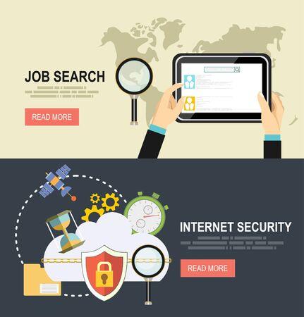 Beveiliging en Cloud technologie Concept.job zoeken.