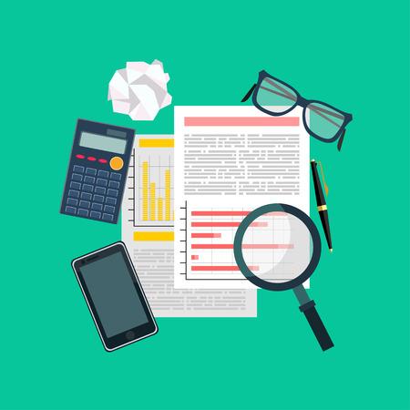 validez: Auditor escritorio de trabajo, documentación contable, la investigación empresarial, auditoría financiera, auditoría tributaria proceso, el análisis de datos de informes, análisis, investigación financiera repor