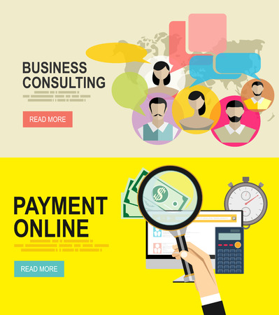 pay bills tax online receipt via computer.business strategy and consulting Illustration
