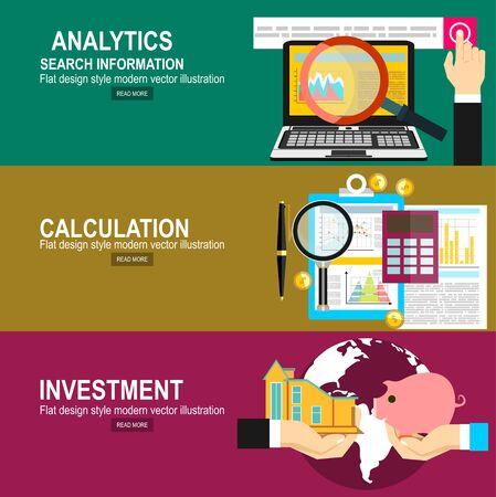 Analytics Informatie en Ontwikkeling Website Statistiek. Berekeningsconcept. Twee handen met spaarvarken en huis. Sparen en investeren geld concept.