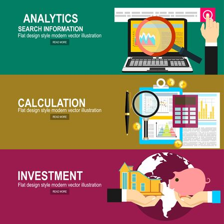 Analytics Information and Development Website Statistic. Calculation concept. Two hands with piggy bank and house. Saving and investing money concept.
