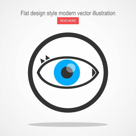 Vector line eye Icon Standard-Bild - 135878757