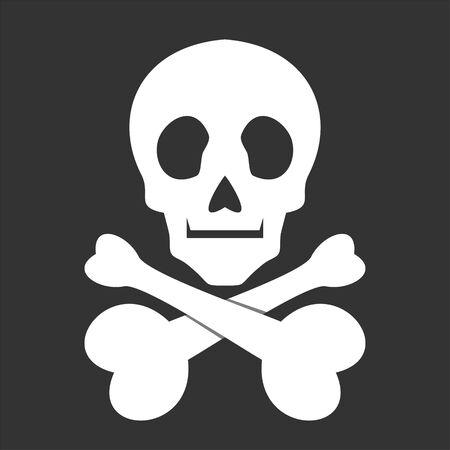 icono de calavera Ilustración de vector